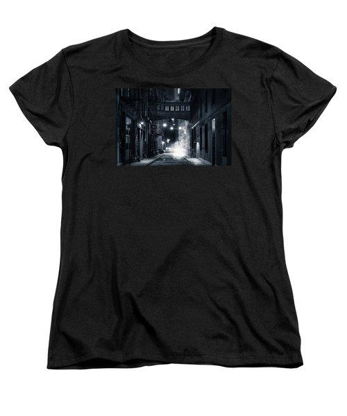 Staple Street Skybridge By Night Women's T-Shirt (Standard Cut) by Mihai Andritoiu