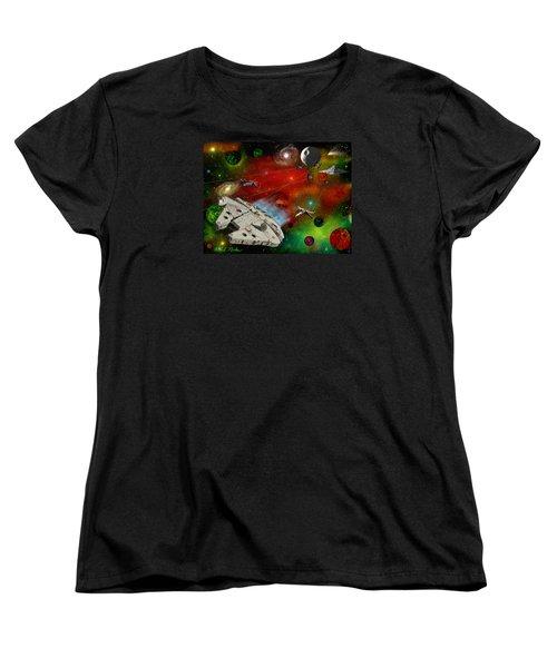 Star Wars Women's T-Shirt (Standard Cut) by Michael Rucker