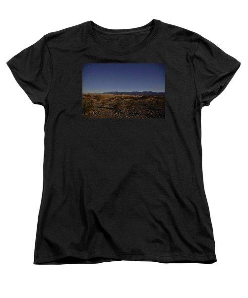 Stars Over The Mesquite Dunes Women's T-Shirt (Standard Cut) by Michael Courtney