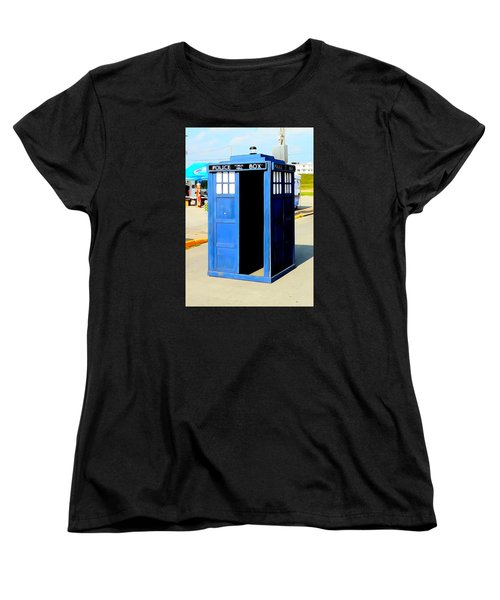 Steampunk Tardis Women's T-Shirt (Standard Cut) by Justin Moore