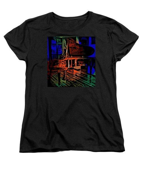 Steinway Piano Women's T-Shirt (Standard Cut) by George Pedro