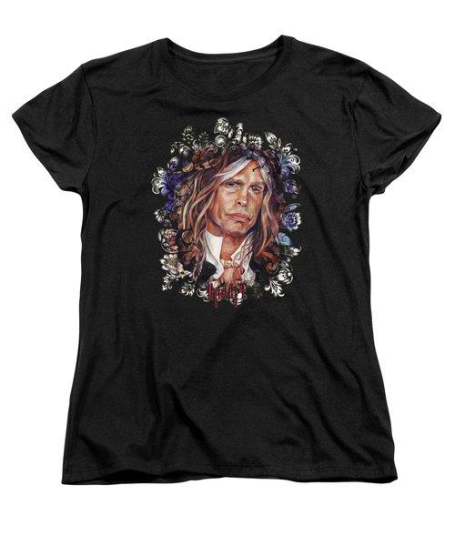 Steven Tyler Aerosmith Women's T-Shirt (Standard Cut) by Inna Volvak