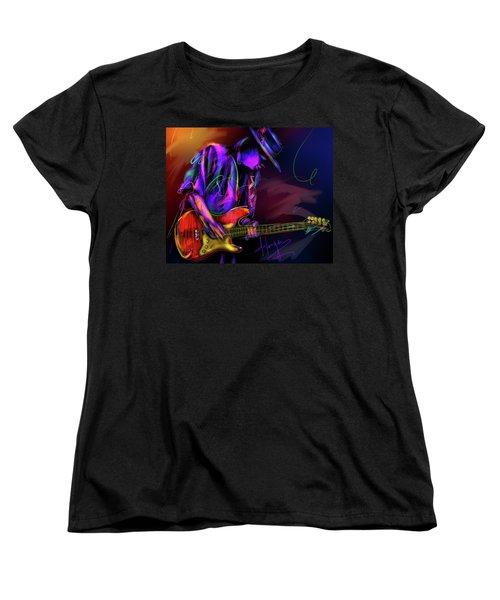 Stevie Ray Vaughan Women's T-Shirt (Standard Cut) by DC Langer