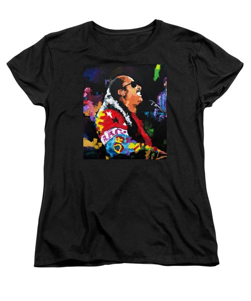 Stevie Wonder Live Women's T-Shirt (Standard Cut) by Richard Day