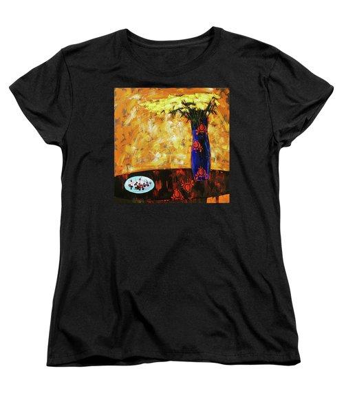 Still Life. Cherries For The Queen Women's T-Shirt (Standard Cut) by Anastasija Kraineva