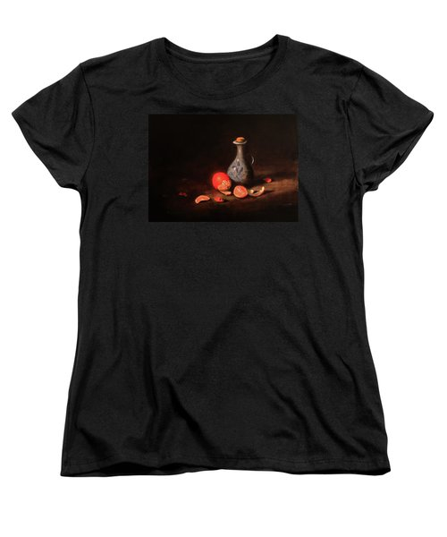 Women's T-Shirt (Standard Cut) featuring the painting Still Life With A Little Dutch Jug by Barry Williamson