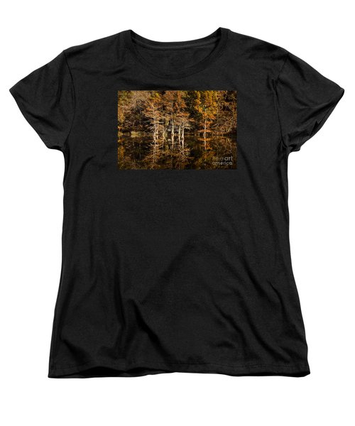 Women's T-Shirt (Standard Cut) featuring the photograph Still Waters On Beaver's Bend by Tamyra Ayles