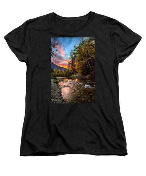 Stillaguamish Sunset Women's T-Shirt (Standard Cut) by Charlie Duncan