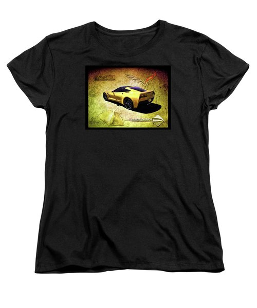Women's T-Shirt (Standard Cut) featuring the drawing Stingray by Michael Cleere