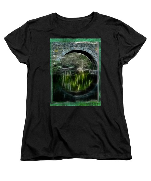 Women's T-Shirt (Standard Cut) featuring the photograph Stone Arch Bridge - Ny by EricaMaxine  Price