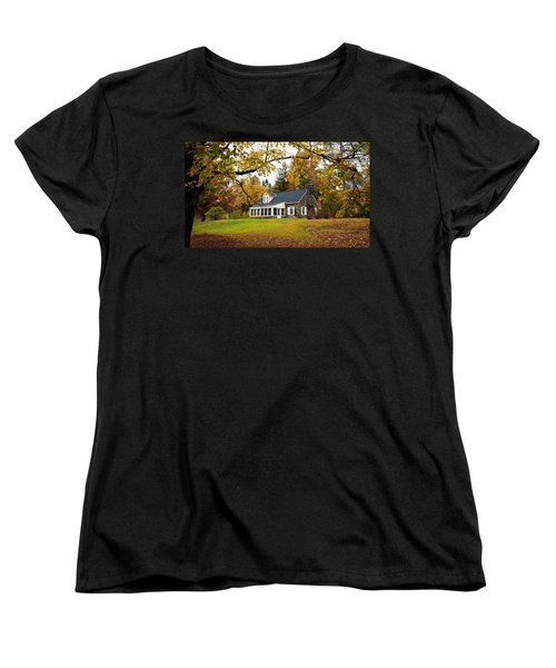 Stone Cottage In The Fall Women's T-Shirt (Standard Cut) by Kenneth Cole