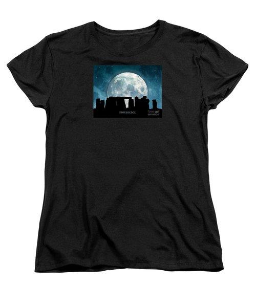 Women's T-Shirt (Standard Cut) featuring the digital art Stonehenge by Phil Perkins
