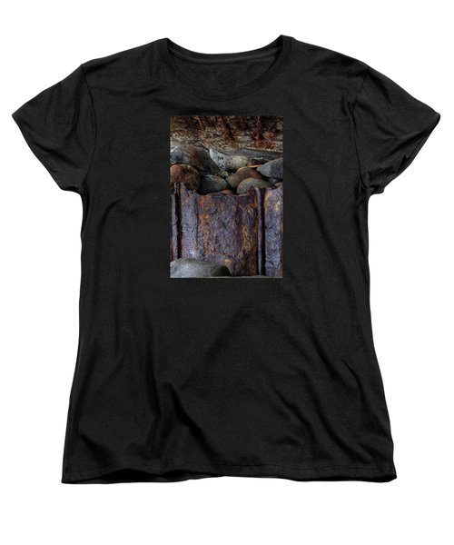 Women's T-Shirt (Standard Cut) featuring the photograph Rusted Stones 1 by Steve Siri