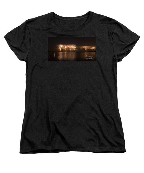 Storm Before Dawn Women's T-Shirt (Standard Cut) by Quinn Sedam