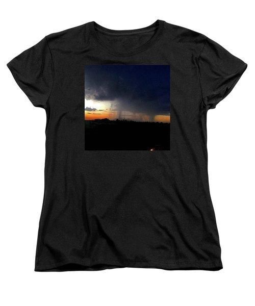 Storm Cloud Women's T-Shirt (Standard Cut) by Speedy Birdman