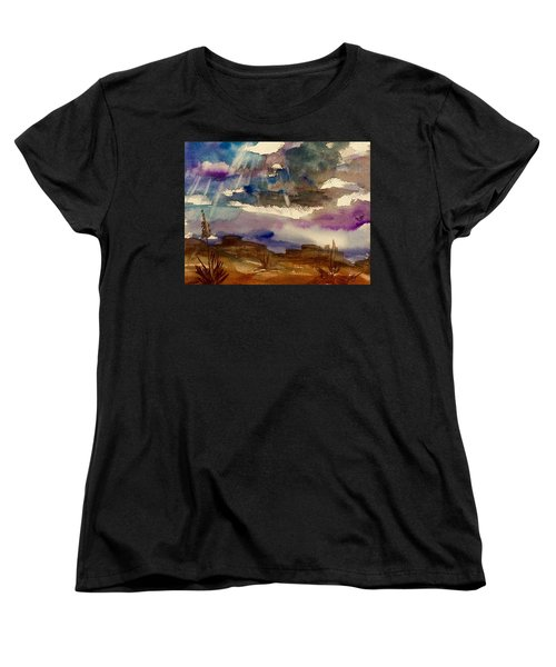 Storm Clouds Over The Desert Women's T-Shirt (Standard Cut) by Ellen Levinson