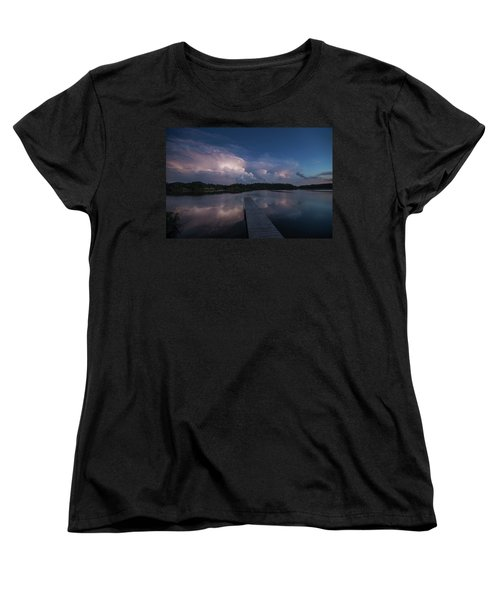 Women's T-Shirt (Standard Cut) featuring the photograph Storm Reflection by Aaron J Groen