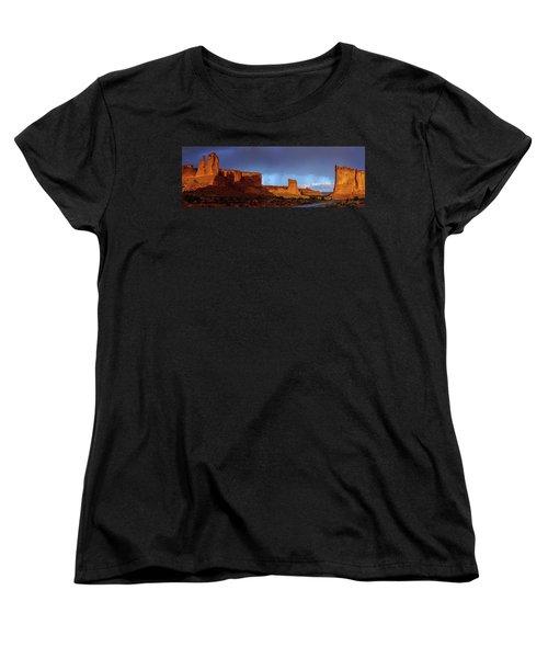 Women's T-Shirt (Standard Cut) featuring the photograph Stormy Desert by Chad Dutson