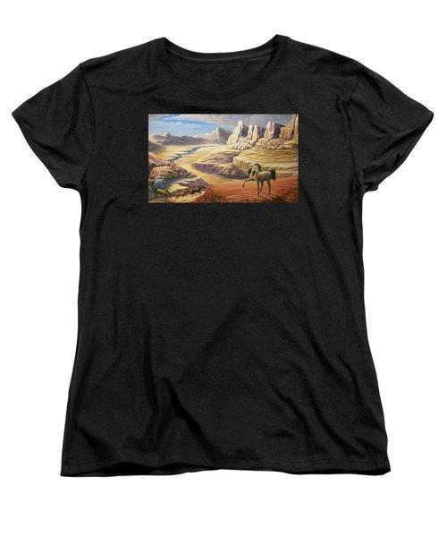 Stormy Women's T-Shirt (Standard Cut) by Loxi Sibley