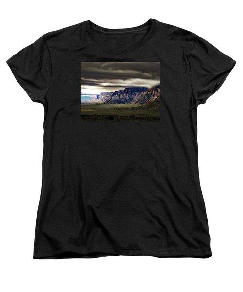 Stormy Morning In Red Rock Canyon Women's T-Shirt (Standard Cut) by Alan Socolik