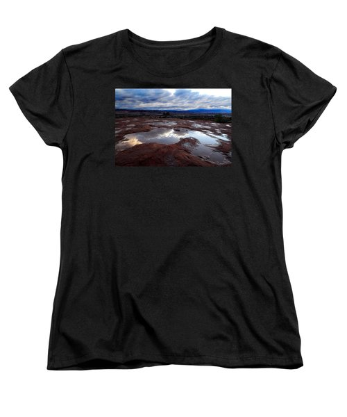 Women's T-Shirt (Standard Cut) featuring the photograph Stormy Sunrise by Harry Spitz