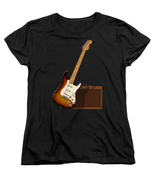 Strat And Tweed Amp Women's T-Shirt (Standard Cut) by WB Johnston