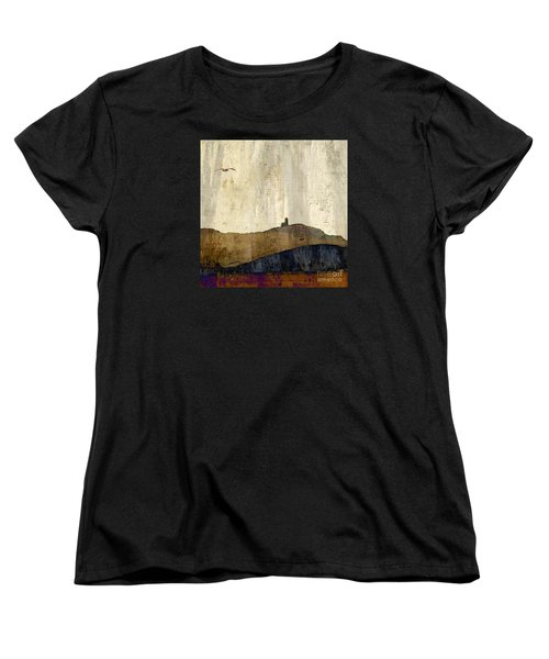 Women's T-Shirt (Standard Cut) featuring the photograph Strata With Lighthouse And Gull by LemonArt Photography