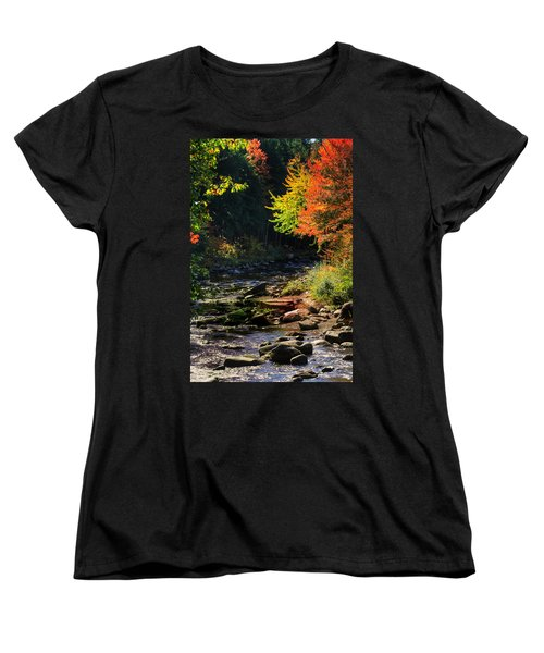 Women's T-Shirt (Standard Cut) featuring the photograph Stream by Tom Prendergast
