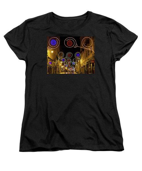Women's T-Shirt (Standard Cut) featuring the photograph Street In Coimbra by Patricia Schaefer