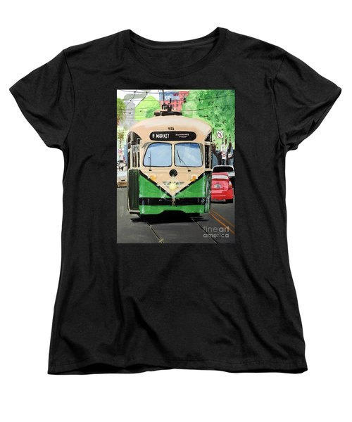 Women's T-Shirt (Standard Cut) featuring the painting Streetcar Not Named Desire by Tom Riggs