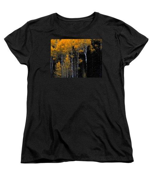 Striking Gold Women's T-Shirt (Standard Cut) by Charlotte Schafer
