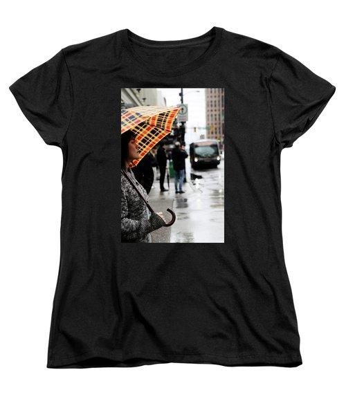 Women's T-Shirt (Standard Cut) featuring the photograph Stuck Down by Empty Wall