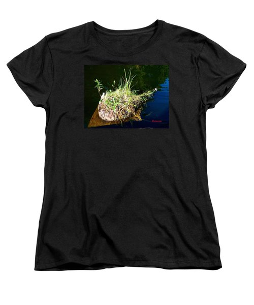Women's T-Shirt (Standard Cut) featuring the photograph Stump Art 11 by Sadie Reneau