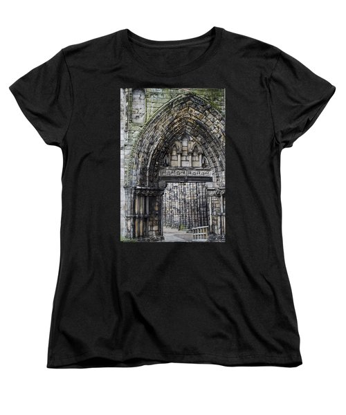 Subtle Shades Of Stone Holyrood Edinburgh Scotland Women's T-Shirt (Standard Cut) by Sally Ross