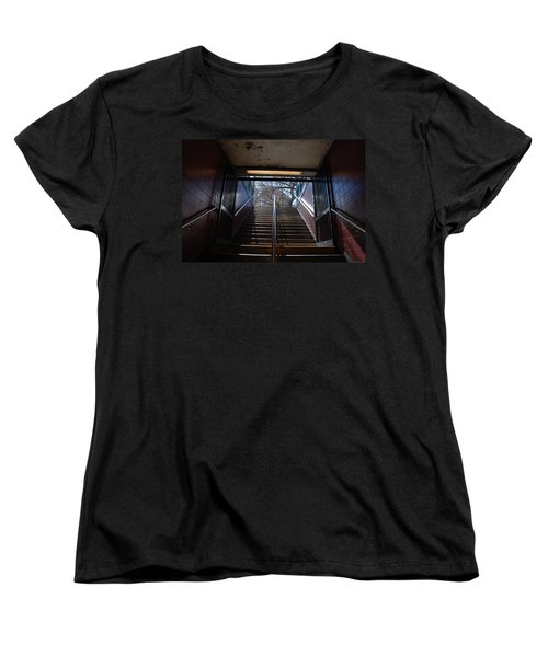 Women's T-Shirt (Standard Cut) featuring the photograph Subway Stairs To Freedom by Rob Hans