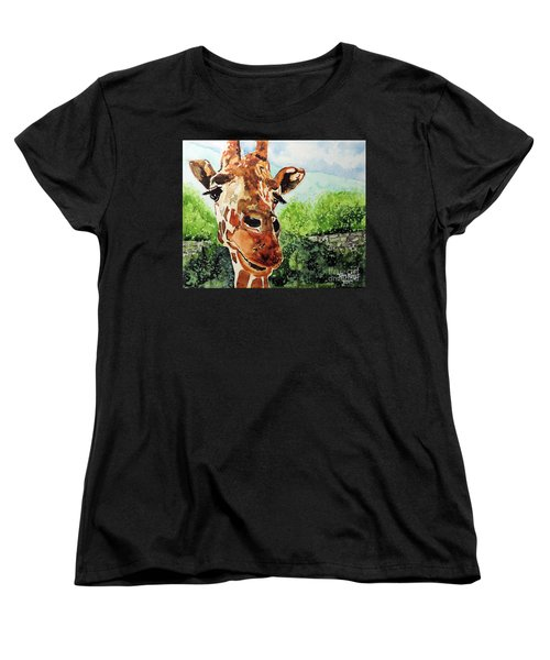 Women's T-Shirt (Standard Cut) featuring the painting Such A Sweet Face by Tom Riggs