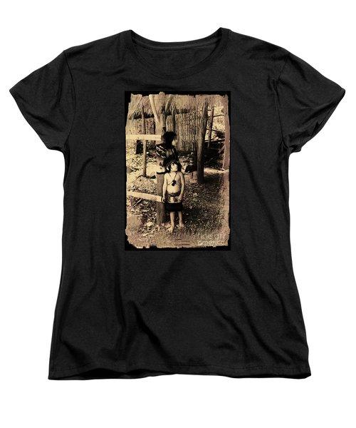 Women's T-Shirt (Standard Cut) featuring the photograph Sucua Kids 895 by Al Bourassa