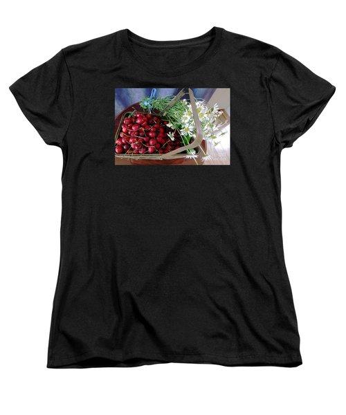 Summer Basket Women's T-Shirt (Standard Cut) by Vicky Tarcau