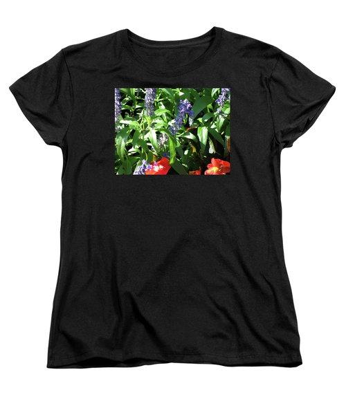 Summer Flowers Women's T-Shirt (Standard Cut) by Michele Wilson