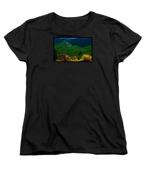 Women's T-Shirt (Standard Cut) featuring the photograph Summer In Upper Pacheco Canyon by Susanne Still