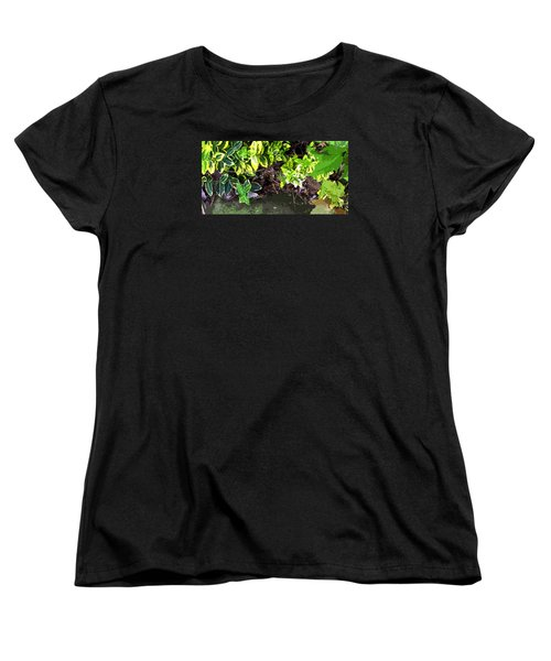 Summer Leaves Women's T-Shirt (Standard Cut) by Spyder Webb