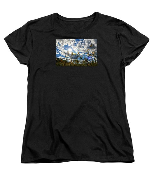 Women's T-Shirt (Standard Cut) featuring the photograph Summer Scene by Nikki McInnes