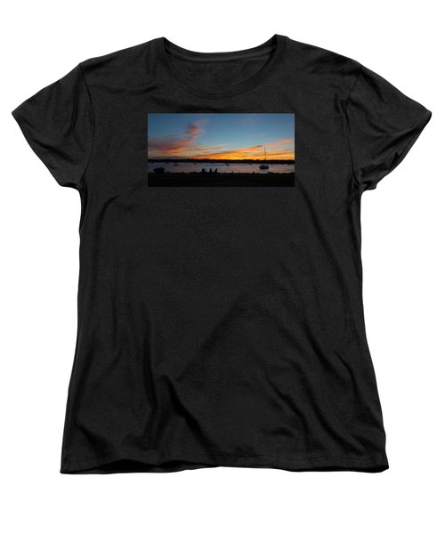 Summer Sunset With Friends Women's T-Shirt (Standard Cut) by Kenneth Cole