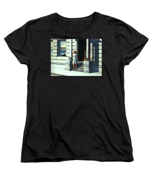 Summertime  Women's T-Shirt (Standard Cut) by Edward Hopper