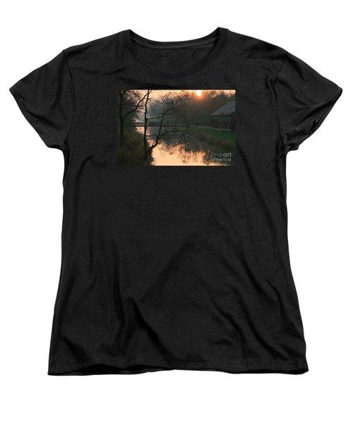 Women's T-Shirt (Standard Cut) featuring the photograph Sun Above The Trees by Paula Guttilla