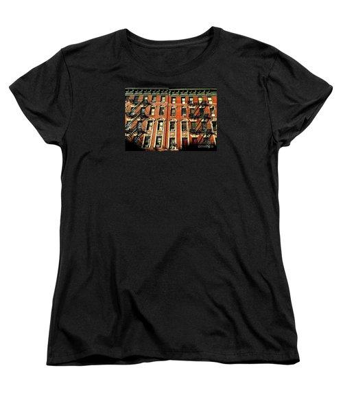 Sun And Shadow - The Rhythm Of New York Women's T-Shirt (Standard Cut) by Miriam Danar