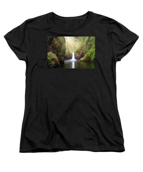 Sun Beams Over Punch Bowl Falls Women's T-Shirt (Standard Fit)