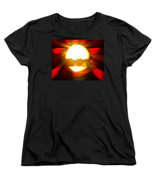 Sun Burst Women's T-Shirt (Standard Cut) by Eric Dee