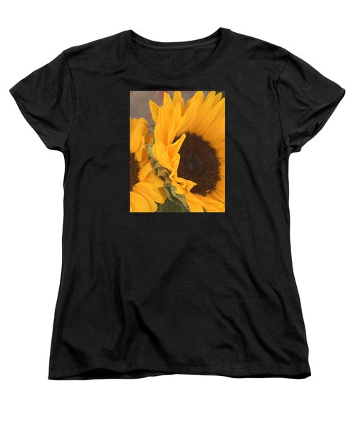 Women's T-Shirt (Standard Cut) featuring the digital art Sun Flower by Jana Russon