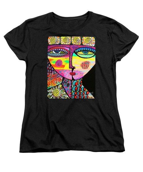 Sun Goddess Women's T-Shirt (Standard Cut) by Sandra Silberzweig